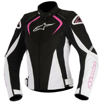 Alpinestars Stella T-Jaws v3 Waterproof Motorcycle Bike Jacket Black White Pink